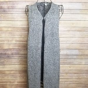 GAP XL gray long stripe sleeveless sweater